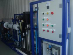 Industrial spec RO with filter system. containerized